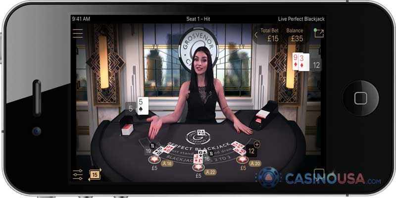 Live Mobile Blackjack