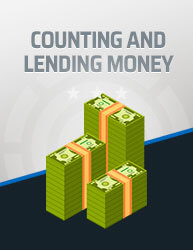 Counting and Lending Money Icon