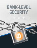 Bank Level Security Bitcoin Icon