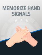 Memorize Hand Signals Icon