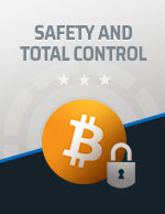Safety and Total Control Bitcoin Icon