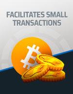Facilitates Small Transactions Bitcoin Icon